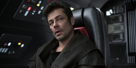 Benicio del Toro as DJ in Star Wars: The Last Jedi.