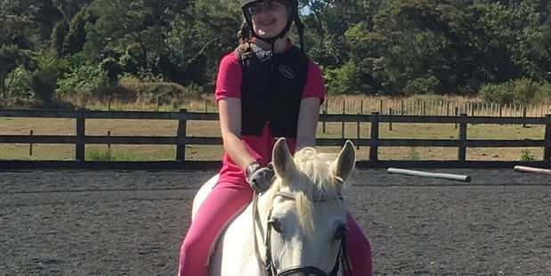 WGP 07Dec17 - COMPETITOR: Special Olympics equestrian athlete Sarah Dalton on her horse Mitzy. PHOTO: SUPPLIED