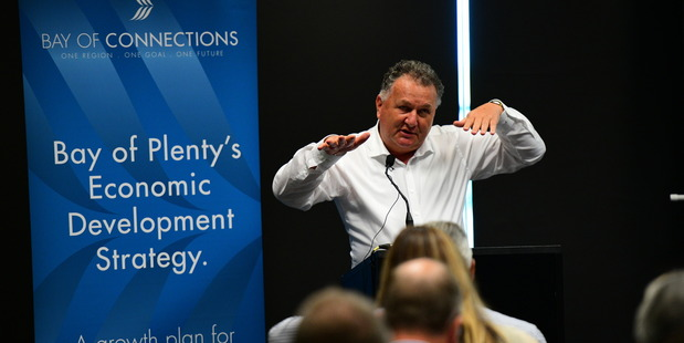 Shane Jones speaking at the launch of the report today. Photo/Supplied