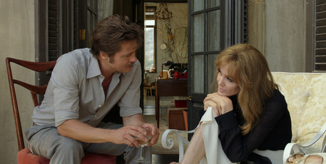 Brad Pitt and Angelina Jolie in a scene from the film By the Sea.