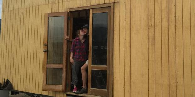 The couple were inspired to tackle the huge project after growing disillusioned with squalid and poorly heated Christchurch share houses. Photo / via Facebook