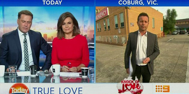Hearing Stevie Jacobs's eulogy from outside the hospital on Monday morning, anchors Karl Stefanovic and Lisa Wilkinson seemed moved as well. Photo / Nine News