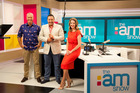 Mark Richardson, Duncan Garner and Amanda Gillies, hosts of The AM Show.