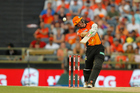 Michael Klinger hits out during his innings of 71 not out, as Perth Scorchers beat Sydney Sixers in BBL final. Photo/Photosport