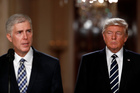 Judge Neil Gorsuch speaks in the East Room of the White House after President Donald Trump announced Gorsuch as his nominee for the Supreme Court. Photo / AP