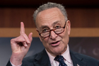 Senate Minority Leader Charles Schumer speaks during a news conference on Capitol Hill in Washington. Photo / AP