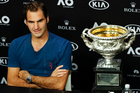 Roger Federer answers questions at a press conference after defeating Spain's Rafael Nadal in the men's singles final at the Australian Ope. Photo / Ap