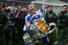 Frank Lampard holding the trophy at the end of the 2012 Champions League final match between Bayern Munich and Chelsea in Munich. Photo / AP