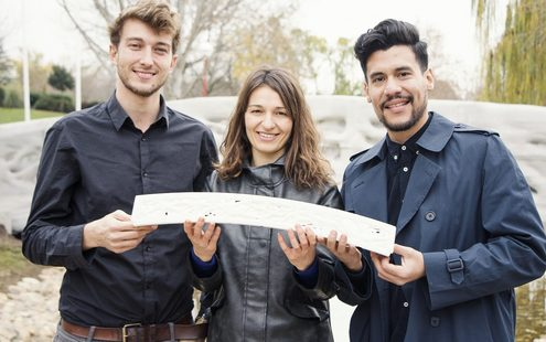 Pictured from left to right are Alexandre Dubor, Areti Markopoulou and Rodrigo Aguirre.