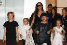Angelina Jolie with her twins Knox and Vivienne, as well as Shiloh and Pax. Photo/Getty