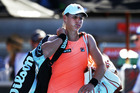 Marina Erakovic walks off the court after losing to Lauren Davis at the ASB Classic. Photo / Getty Images