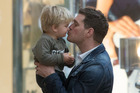 Michael Buble with his son Noah in April 2015, a year before the cancer diagnosis. Photo/Getty
