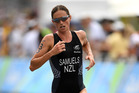 Nicky Samuels runs during the Women's Triathlon at the Rio Olympics. Photo / Getty Images