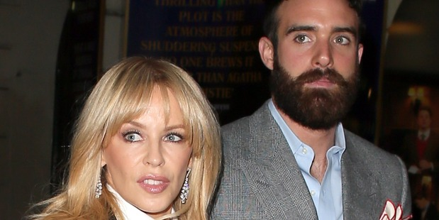 Kylie Minogue and Joshua Sasse were last seen together in public early December 2016. Photo/Getty