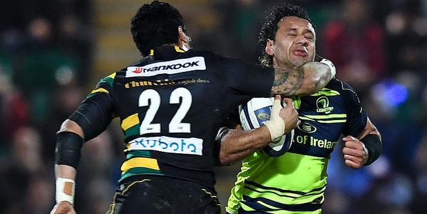 George Pisi puts in a high tackle on Isa Nacewa. Photo / Getty