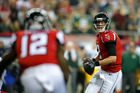 Much is riding on the skills of Atlanta Falcons quarterback Matt Ryan as they face off against the highly favoured New England Patriots at this Monday's Superbowl. Pic Getty.