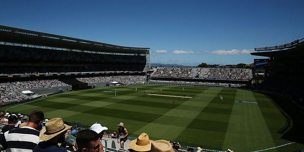 General view of Eden Park during the first ODI. Photo / Getty
