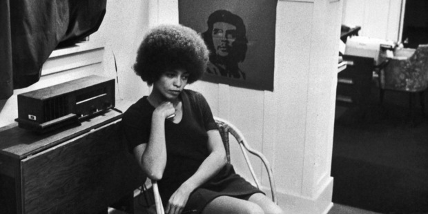 American activist Angela Davis, shortly after she was fired from her post as philosophy professor at UCLA due to her membership of the Communist Party of America, 27th November 1969. Photo / Getty