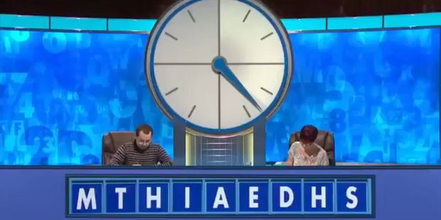 Contestants were given the randomly selected nine letters that provided the unfortunate word. Photo/Channel 4