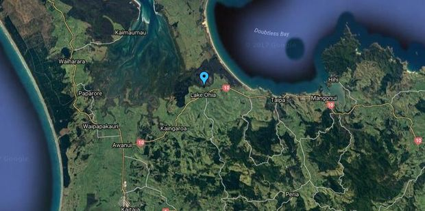Fire has destroyed scrub at Lake Ohia in the Far North. Photo / via google maps