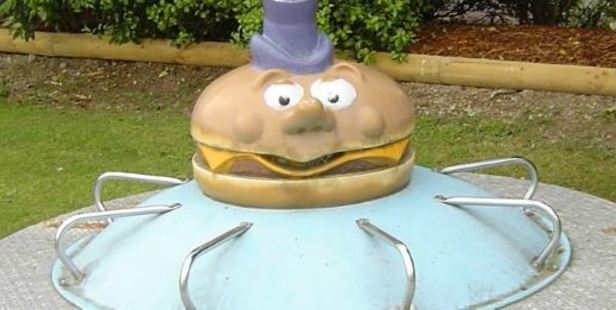 One Trade Me user recalled getting their head stuck under a Mayor McCheese roundabout. Photo / Trade Me