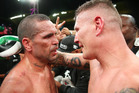 Australian boxers Anthony Mundine and Danny Green speak after their cruiserweight bout. Photo / Getty Images.