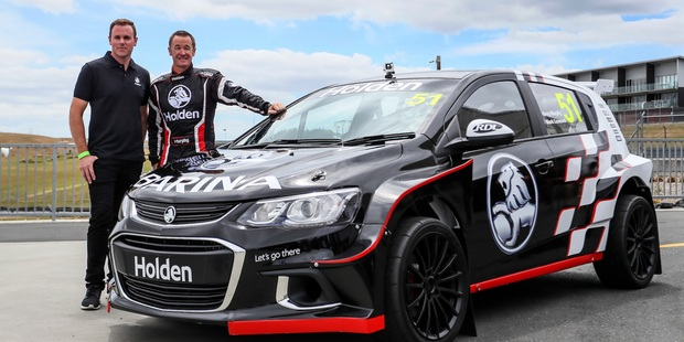 Holden New Zealand Greg Murphy Holden Barina Rally Car reveal. Photo / Simon Watts