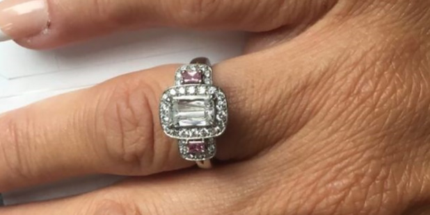A devastated Kiwi bride is selling her wedding dress and engagement ring on Trade Me after her husband-to-be ditched her the night before their lavish  Rarotonga wedding. Photo / Trade Me