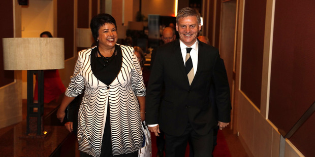 The Prime Minister's State of the Nation address was Bill English and Deputy PM and Police Minister Paula Bennett's first joint appearance after the leadership change in December. Photo / Dean Purcell