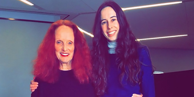 Jones was lucky enough to work alongside the iconic creative director of Vogue US Grace Coddington before she stepped down in 2016. Photo / Instagram
