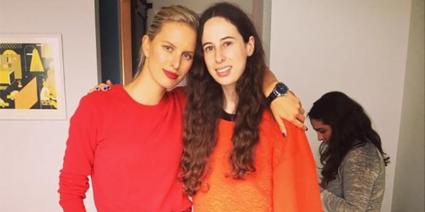 Jones with Karolina Kurkova. Photo / Getty