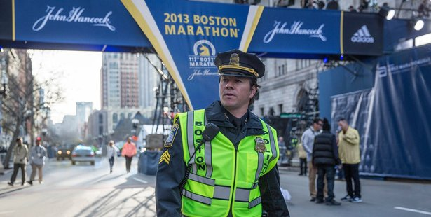 Mark Wahlberg in a scene from Patriots Day.