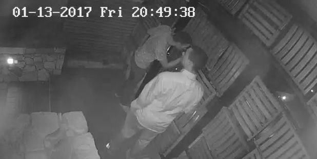 CCTV still of the burglary of the Camps Bay property in Capetown. Photo / Supplied