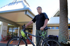 Whanganui's Davis Library is a common destination for cyclist Peter Hewson. PHOTO/ STUART MUNRO