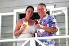 Recently engaged couple Dot Pumipi and former MP Shane Jones at their party in Kerikeri. Photo / Jason Oxenham