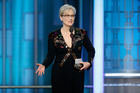 Meryl Streep is the biggest star to have spoken out politically at an awards show this year. Photo/AP