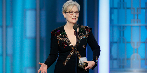 Loading Meryl Streep is the biggest star to have spoken out politically at an awards show this year. Photo/AP