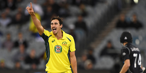 Mitchell Starc admitted yesterday that Australia had talked about the importance of making it 3-0. Photo / Photosport