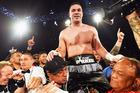 New Zealand heavyweight boxer Joseph Parker celebrates his win over Andy Ruiz Jr. Photo / Photosport.co.nz
