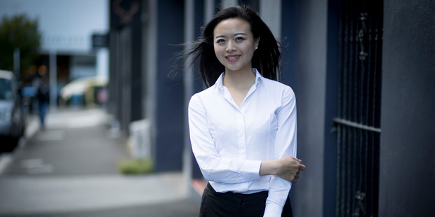 New migrant from China Nicole Wang considers New Zealand to be the closest thing to paradise. Photo / Dean Purcell