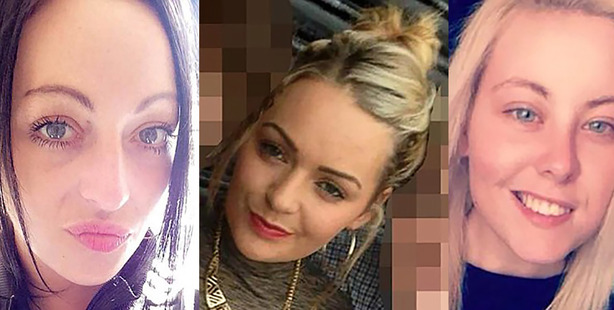 Brogan Gillard , Paige Cunningham and Shannon Jones from from Barrow-on-Furness. Picture / Facebook
