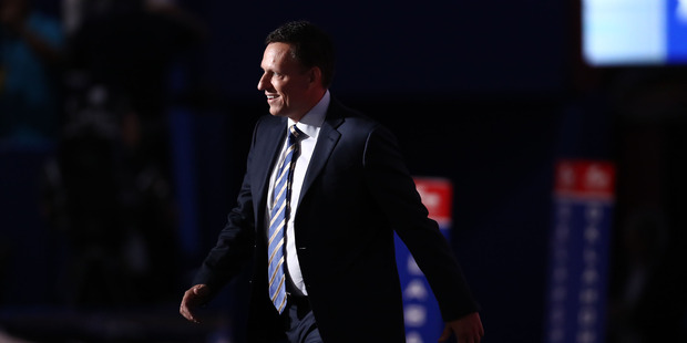 Peter Thiel on stage during the Republican National Convention in Cleveland, Ohio in 2016. Photo / AP