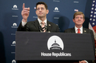House Speaker Paul Ryan joined by Scott Tipton meets with reporters on Capitol Hill in Washington yesterday. Photo / AP