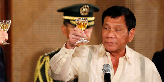 Loading Philippine President Rodrigo Duterte Duterte has vowed to extend his brutal crackdown from March this year right up to the end of his term in 2022.