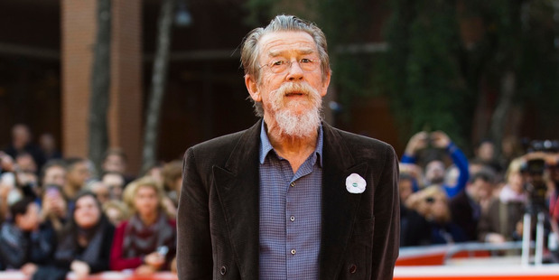 John Hurt walking on the red carpet at the 8th edition of the Rome International Film Festival in Rome. Photo / AP