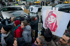 Protesters assembled at John F. Kennedy International Airport in New York after two Iraqi refugees were detained while trying to enter the country. Photo / AP