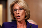Betsy DeVos, a billionaire Republican donor and school choice activist, does not have any experience of public schooling. Photo / AP