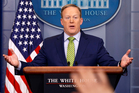 White House press secretary Sean Spicer has had some interesting things to say in his daily press briefings. Photo / AP