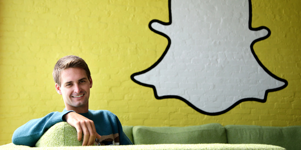 Snapchat CEO Evan Spiegel and his executives will need to prove that the excitement over Snap can last long after listing day. Photo / AP
