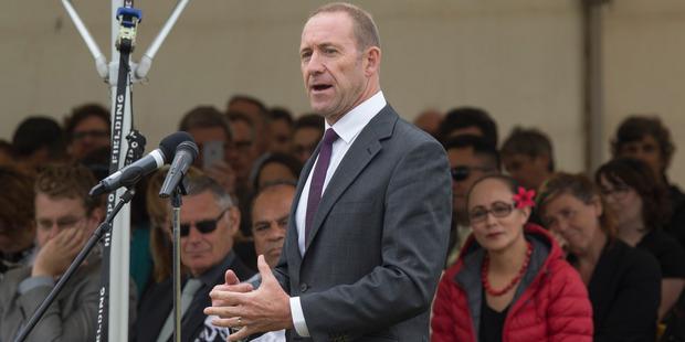 Labour leader Andrew Little speaking in Ratana last week. Photo: Mark Mitchell